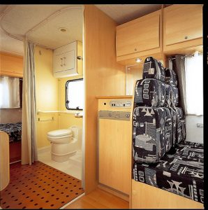 caravana con ducha