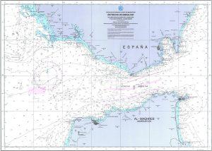 carta nautica estrecho gibraltar