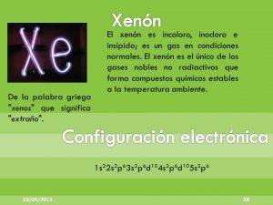 configuracion electronica xenon