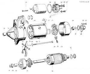despiece del motor de arranque