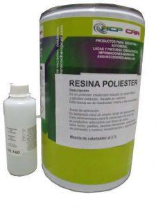 fibra de vidrio resina y catalizador