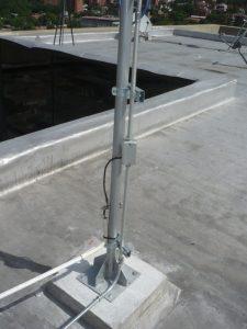 mastil para antena