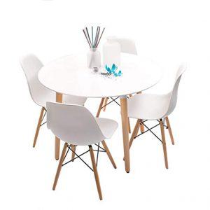 mesa blanca redonda