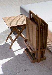 mesa teca plegable