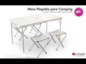 mesa y sillas camping plegable