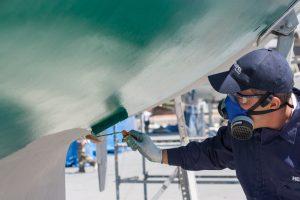 pintar barco fibra
