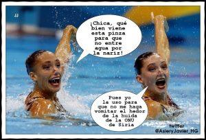 pinzas nariz natacion sincronizada