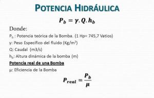 potencia hidraulica