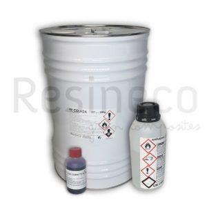 resina de poliester y catalizador